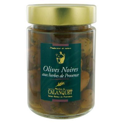Olives noires aux herbes de Provence