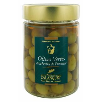 Olives vertes aux herbes de Provence