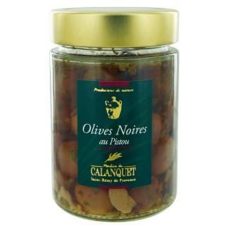 Olives noires au Pistou