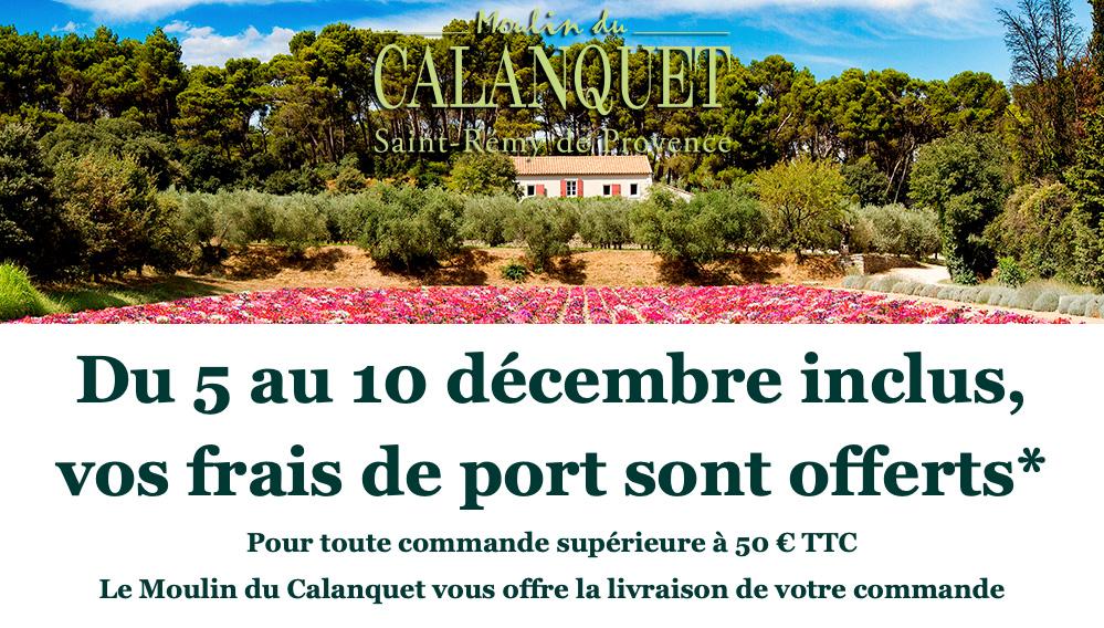 Frais de Port offert du 05 au 10 décembre inclus sur la boutique en ligne