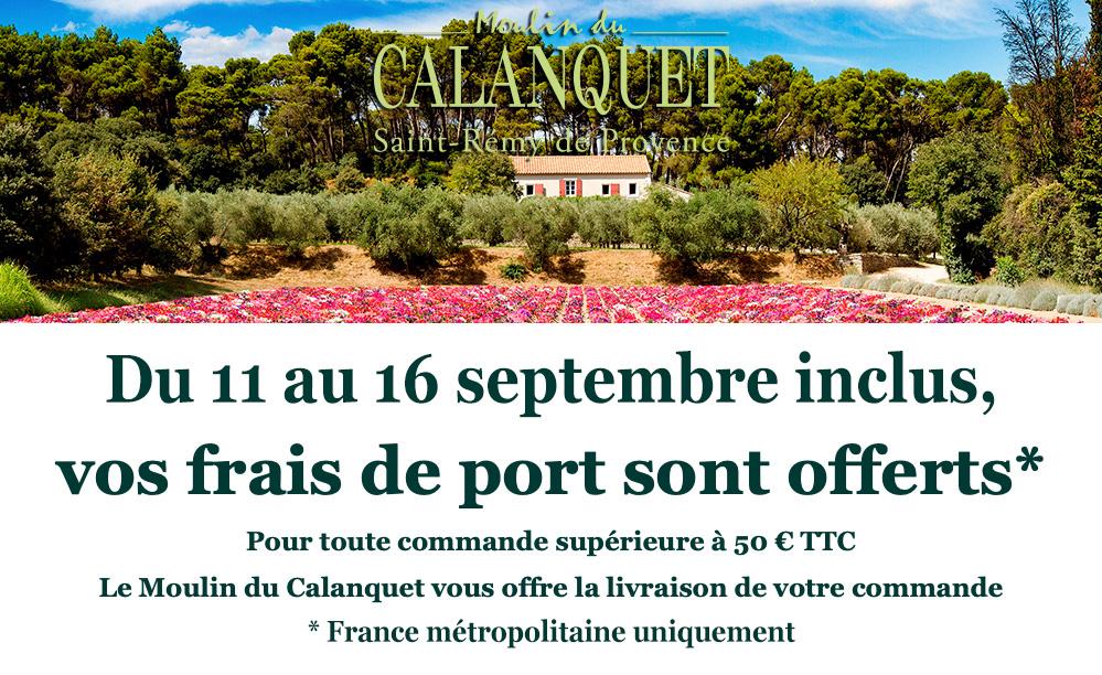 Frais de port offert du 11 au 16 septembre 2020