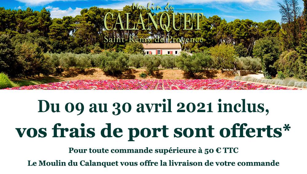 Frais de port offert du 09 au 30 avril 2021